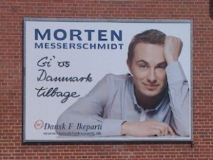 "Morten Messerschmidt says ""Give us Denmark back"""