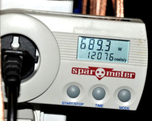 Figure 7. The power monitor on the hotplate.