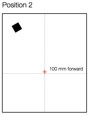 Fig 2. Microphone Position 2 - forward 100 mm. Height of mic diaphragm from floor was 1015 mm.