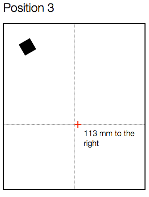 Fig 2. Microphone Position 1 - sideways 113 mm. Height of mic diaphragm from floor was 1015 mm.
