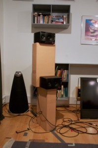 Figure X: A photo of the loudspeakers used in the second part of the experiment.